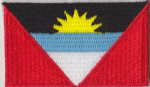Antigua & Barbuda Embroidered Flag Patch, style 04.